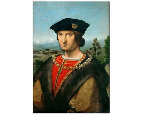 Andrea Solario Portre Charles II d'Amboise