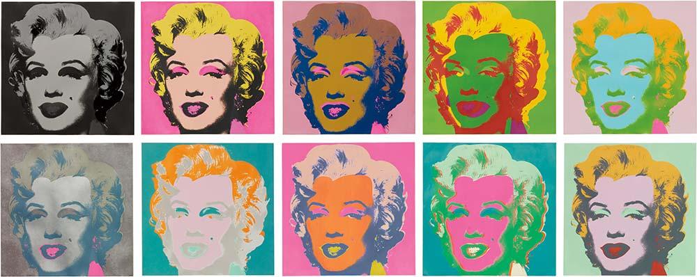 Andy Warhol Marilyn Monroe Set