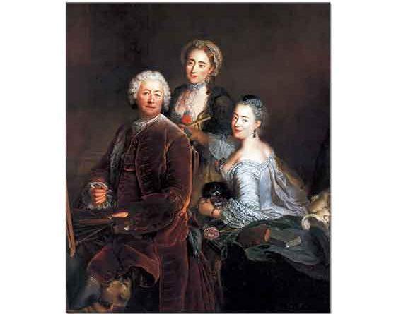 Antoine Pesne Sanatçı ve Kızları