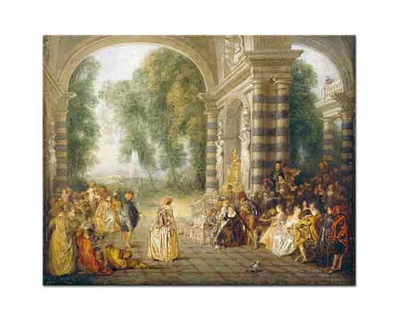 Jean Antoine Watteau Dans Keyfi - The Pleasures of the Dance