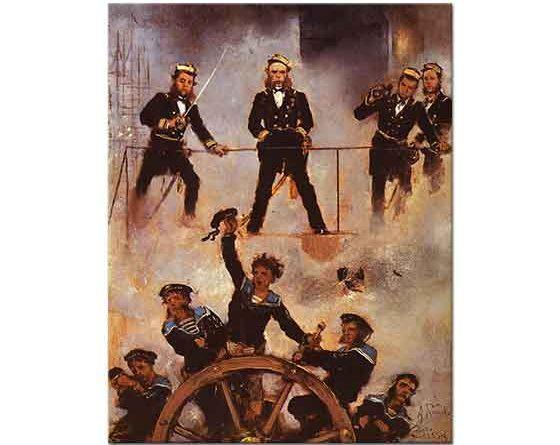 Anton Romako Lisa Savaşında Amiral Tegetthoff