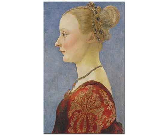 Antonio del Pollaiuolo Kadın Portresi