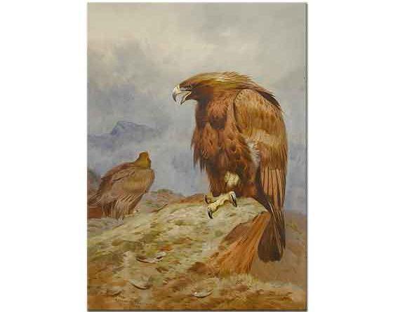 Archibald Thorburn Altın Kartal Çifti