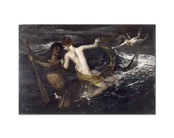 Arnold Böcklin Sırtında Bir Su Perisi Taşıyan Triton