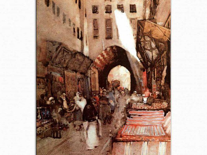 Arthur Melville Türk Pazarı Kahire