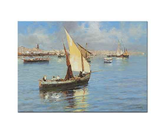 Attilio Pratella Napoli Limanında