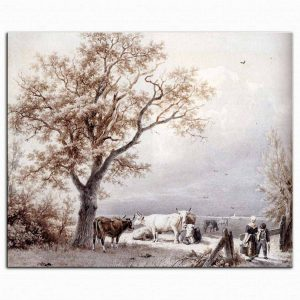Barend Cornelis Koekkoek çayırda koyunlar