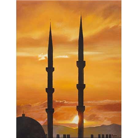 Bayram Yolal Gün Batımında Minareler