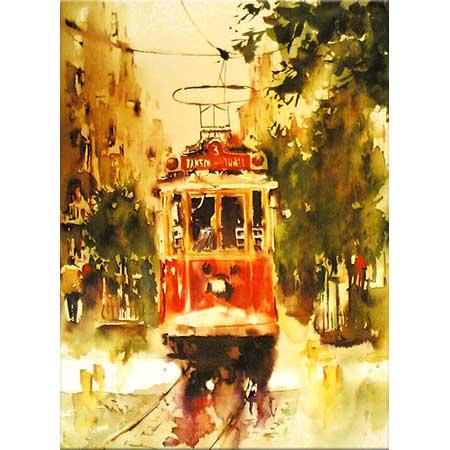 Burhan Özer Beyoğlu'nda Tramvay
