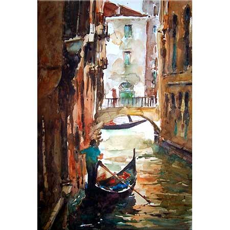 Burhan Özer Venedik Manzarası