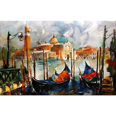 Burhan Özer Venedik'te Gondollar