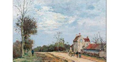 Camille Pissarro Baharda Köy Yolu