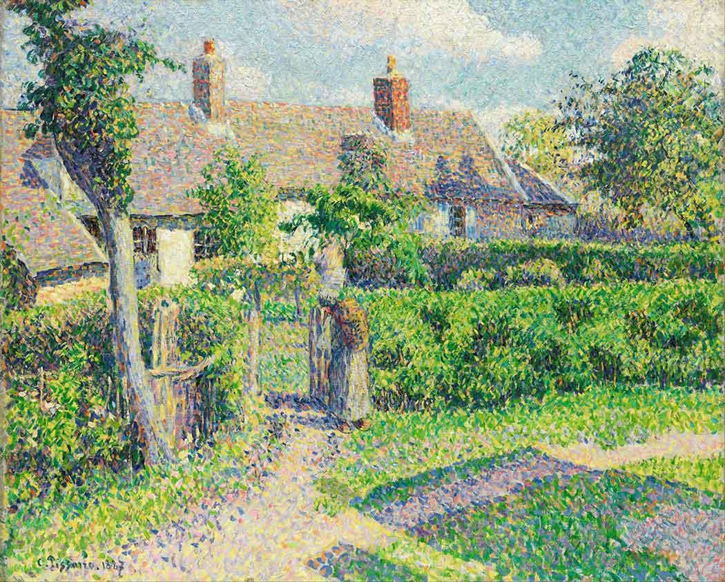 Camille Pissarro Bahçe Önünde