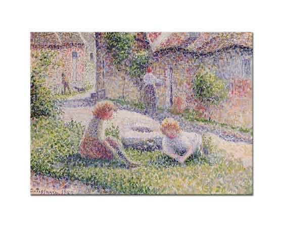 Camille Pissarro Çiftlikte Çocuklar
