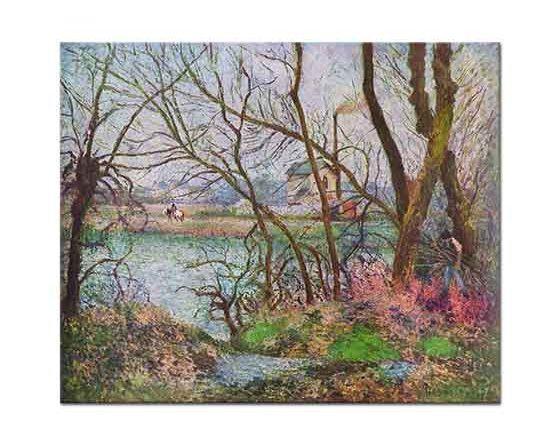 Camille Pissarro Dere Kenarında Ağaçlık