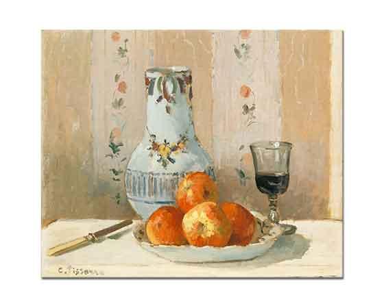 Camille Pissarro Elma ve Sürahili Natürmort