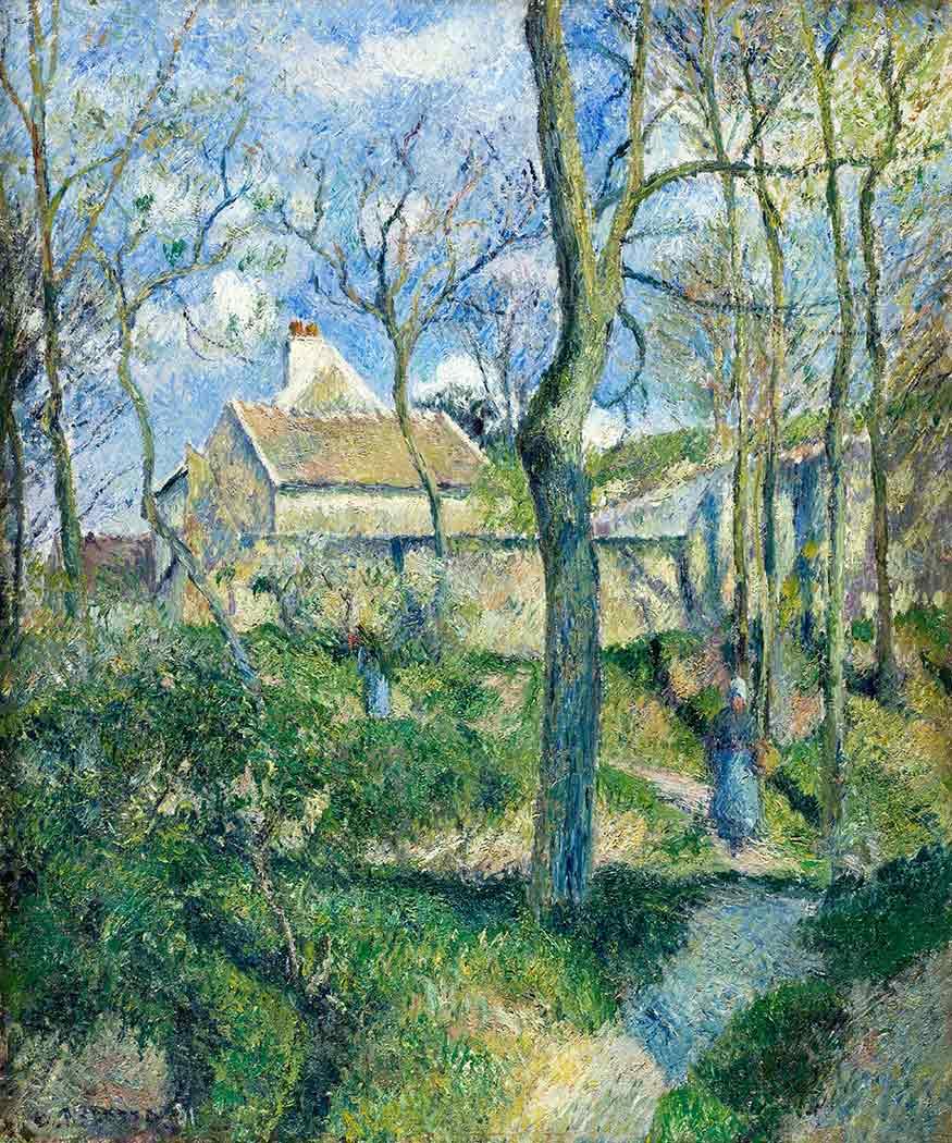 Camille Pissarro Eve Yürürken