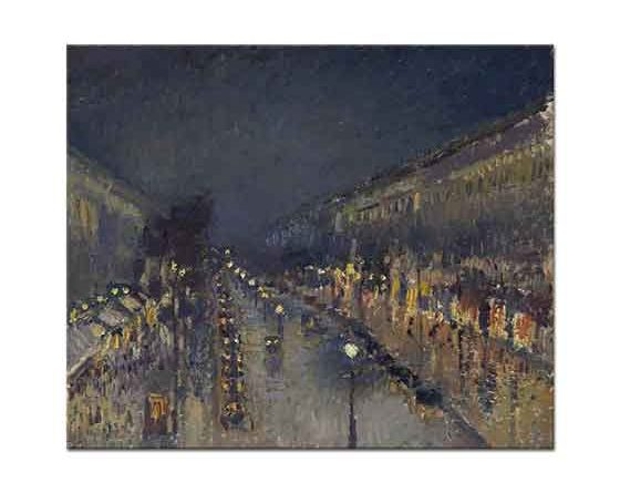 Camille Pissarro Gece Montmartre Bulvarı