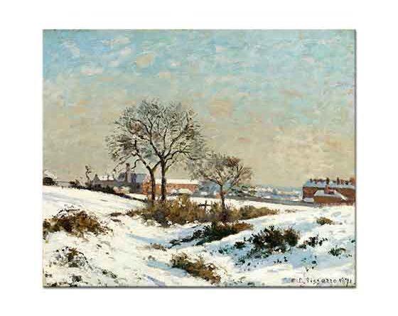 Camille Pissarro Karlı Havada Sahil