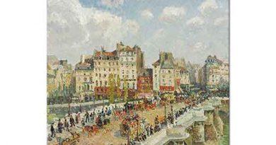 Camille Pissarro Köprü Üzerinde