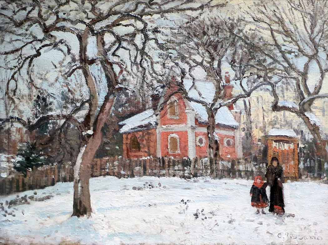 Camille Pissarro Köy Meydanı Louveciennes