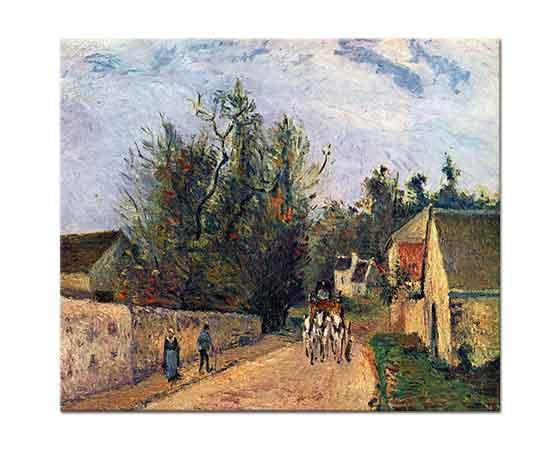 Camille Pissarro Köy Yolunda Gezinti
