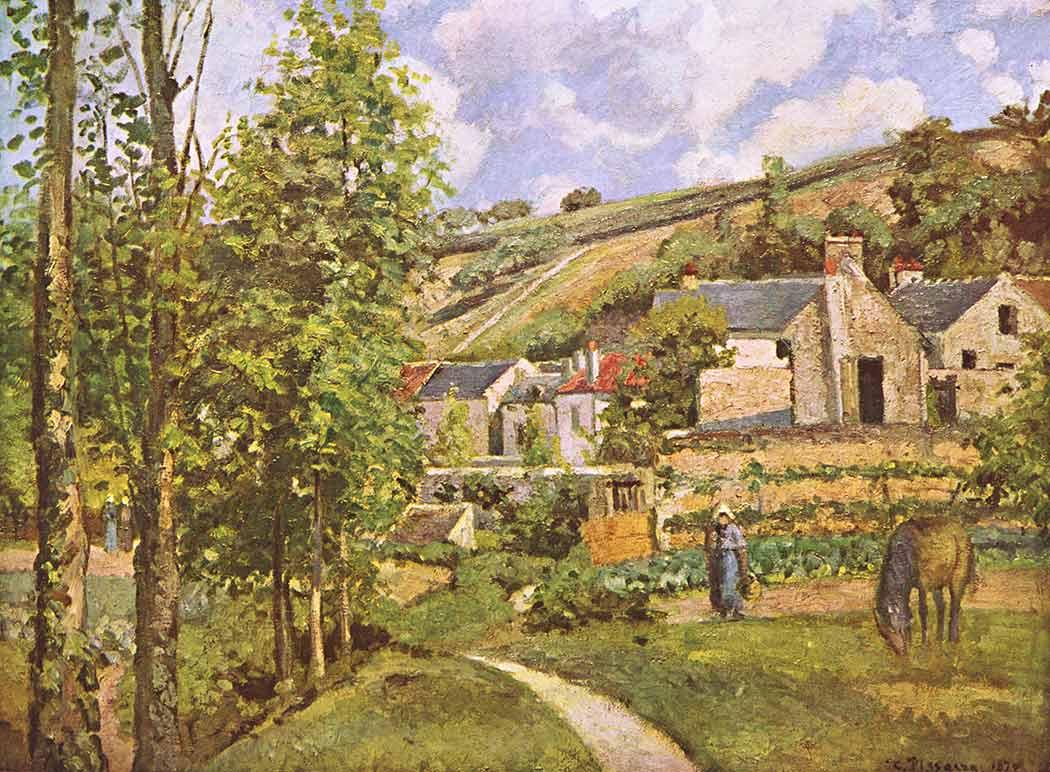 Camille Pissarro Köyde Tarlalar