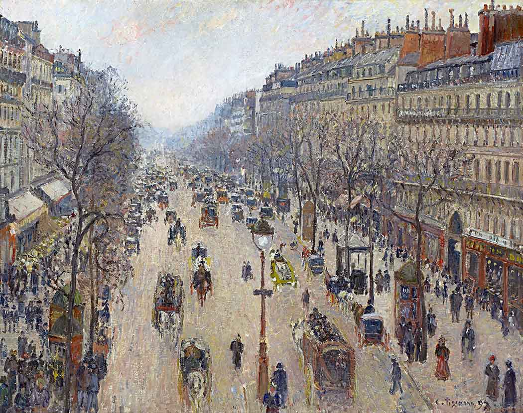Camille Pissarro Montmartre Bulvarında