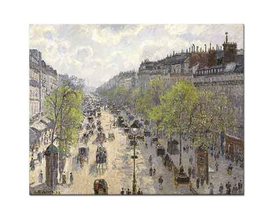 Camille Pissarro Montmartre Bulvarı İlkbahar