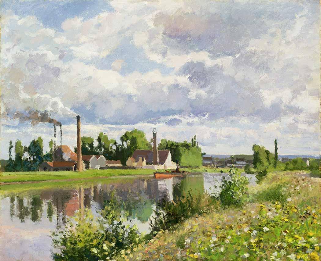Camille Pissarro Nehir Kenarında Evler
