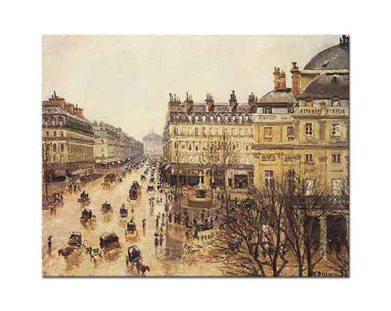 Camille Pissarro Opera Caddesi Yağmurda