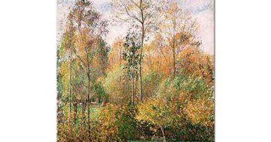 Camille Pissarro Sonbaharda Kavaklar