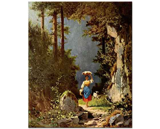 Carl Spitzweg Genç Kız ve Keçisi