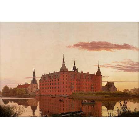 Christen Købke Akşam Işığında Frederiksborg Şatosu