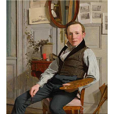 Christen Købke Frederik Sodring'in Portresi