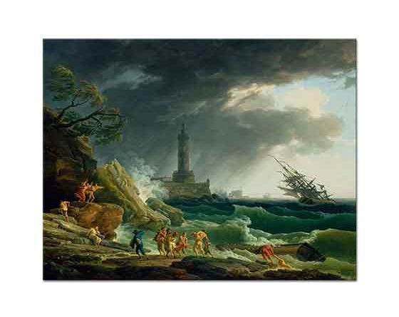 Claude Joseph Vernet Akdeniz Sahilinde Fırtına