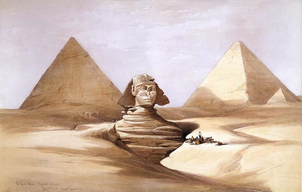David Roberts Büyük Sfenks ve Piramitler