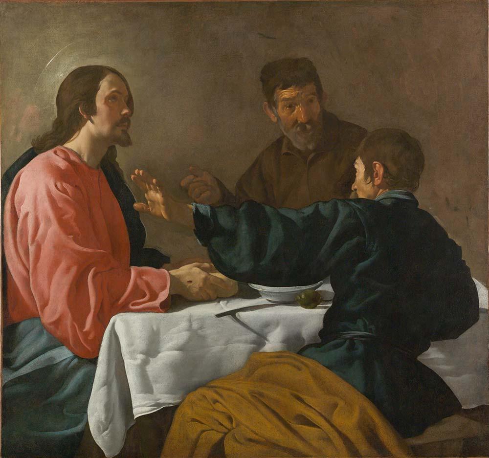 Diego Velazquez Emmaus'ta Akşam Yemeği