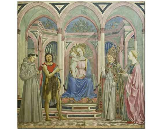 Domenico Veneziano Meryem Çoçuk Isa ve Azizler