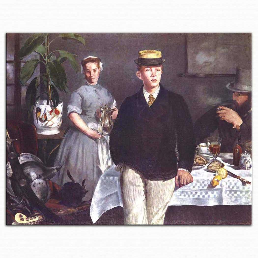 Edouard Manet Atelyede Kahvaltı