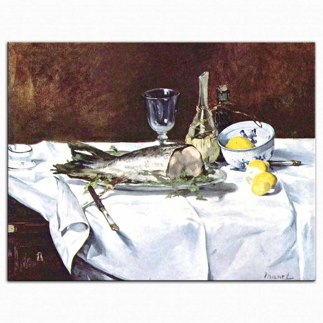 Edouard Manet Balıklı Natürmort