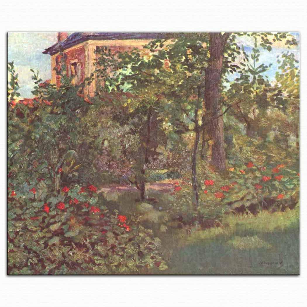 Edouard Manet Bellevue'de Bahçe Köşesi