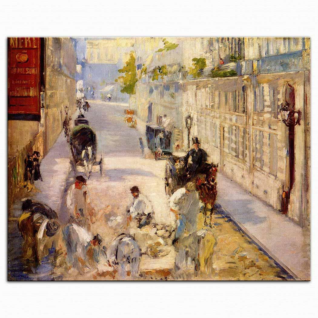 Edouard Manet Berne Caddesinde işçiler