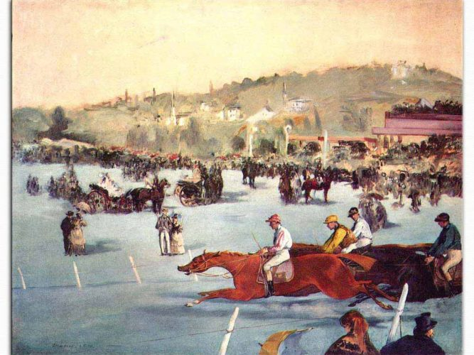 Edouard Manet Bois de Boulogne'de Atyarışı