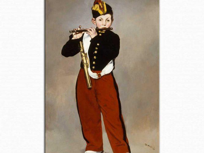 Edouard Manet Flütçü