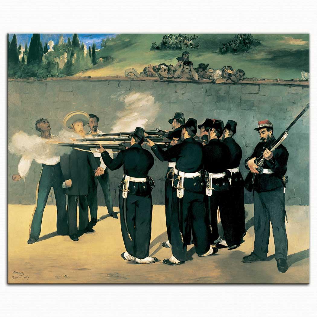 Edouard Manet Kaiser Maximilian'ın Meksika'da Kurşuna Dizilişi