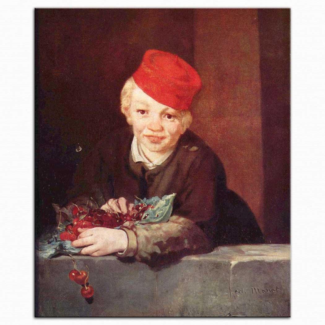 Edouard Manet Kirazlarla çocuk