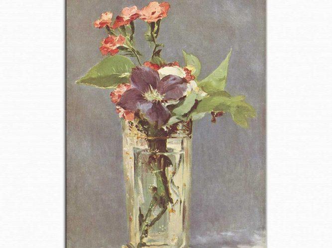 Edouard Manet Kristal Vazoda çiçekler