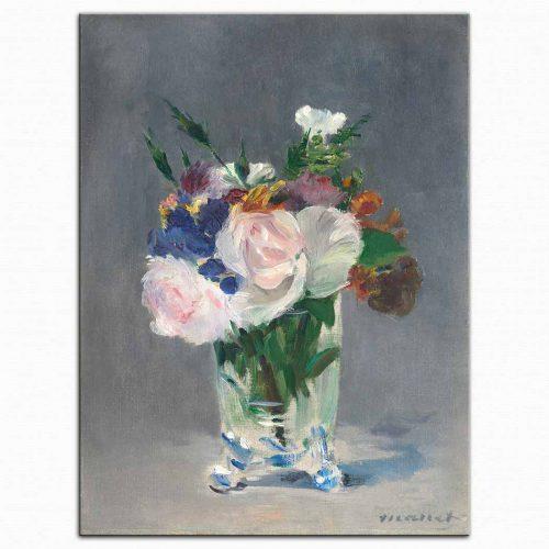 Edouard Manet Kristal Vazodaki çiçekler