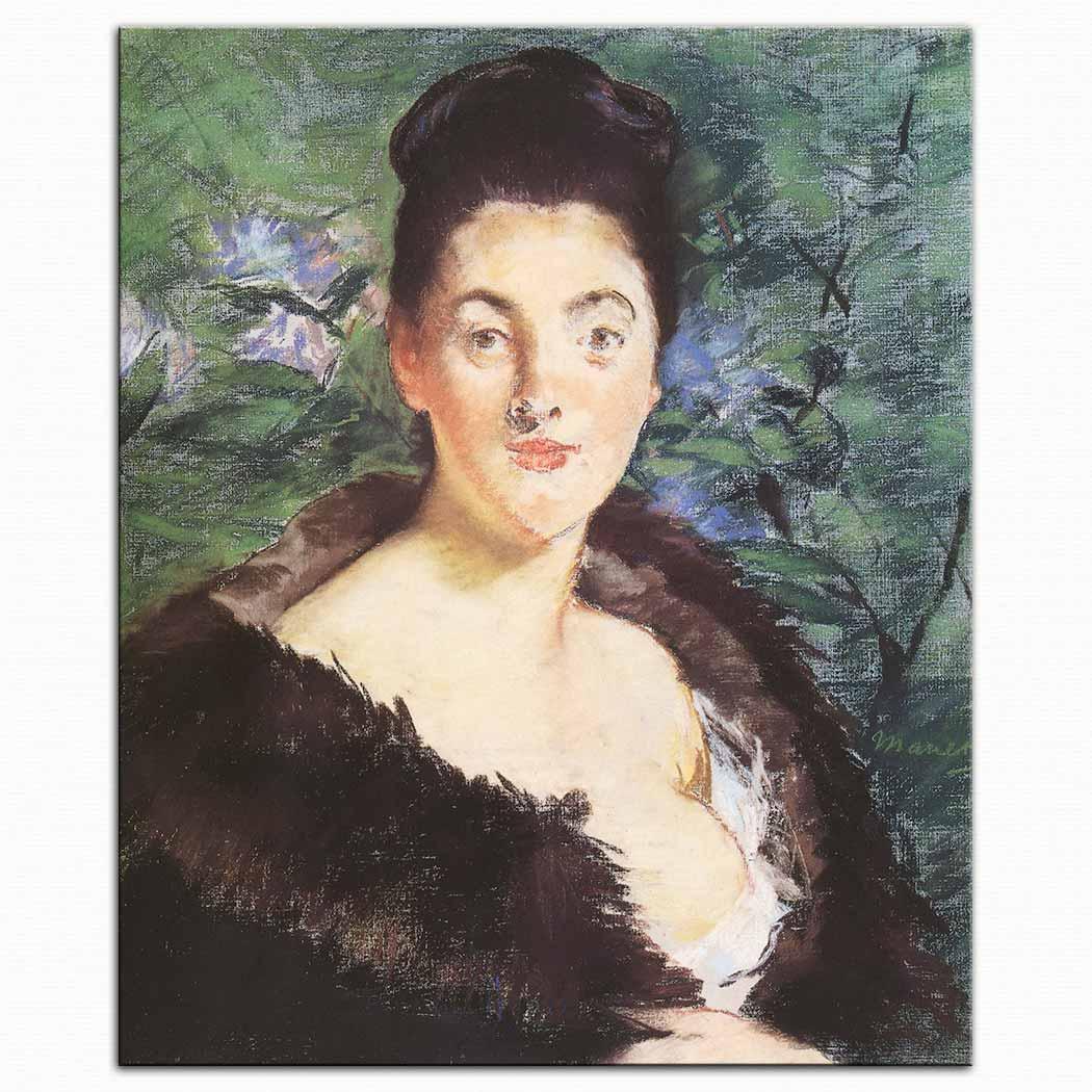 Edouard Manet Kürklü Kadın